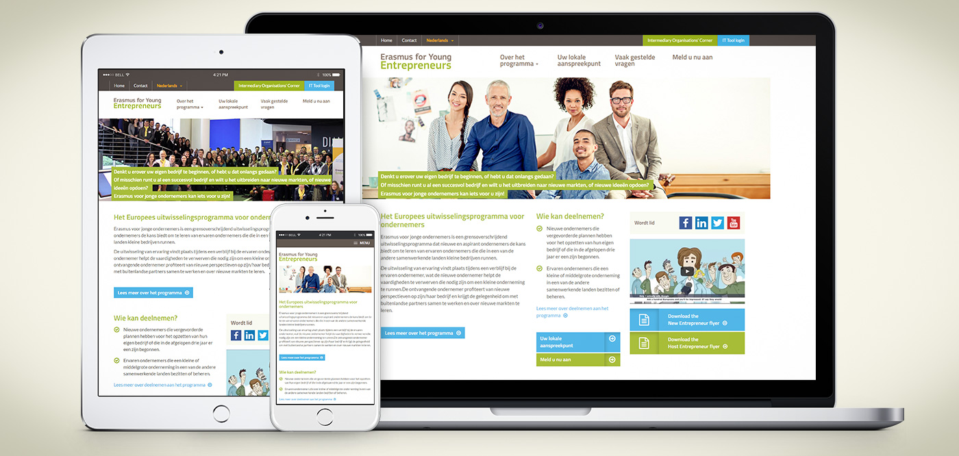 Responsive website Erasmus for Young Entrepreneurs - Foto 1