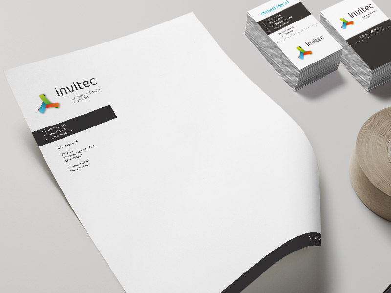 Invitec - Huisstijl, website & drukwerk