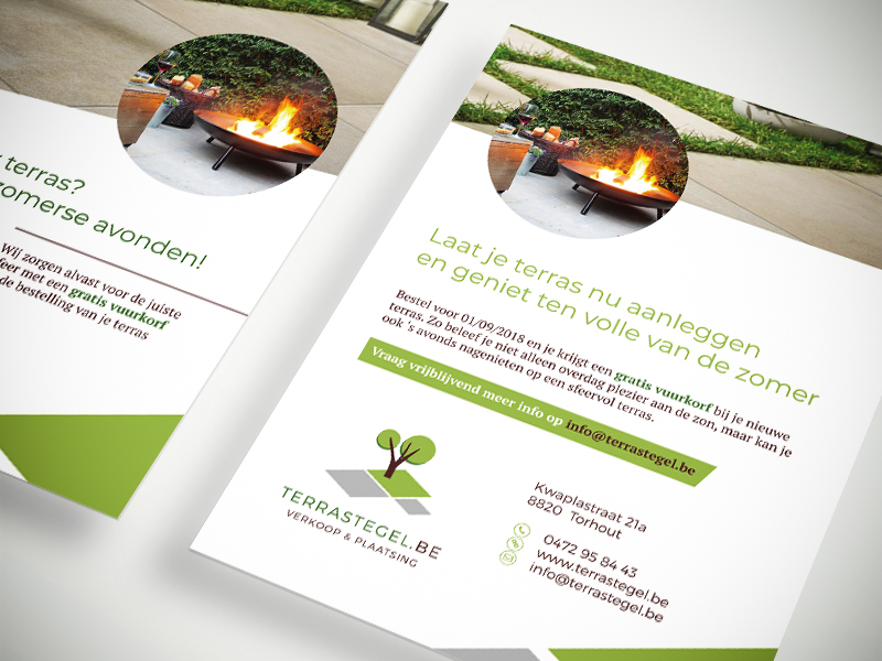 Terrastegel.be - Huisstijl & webdesign