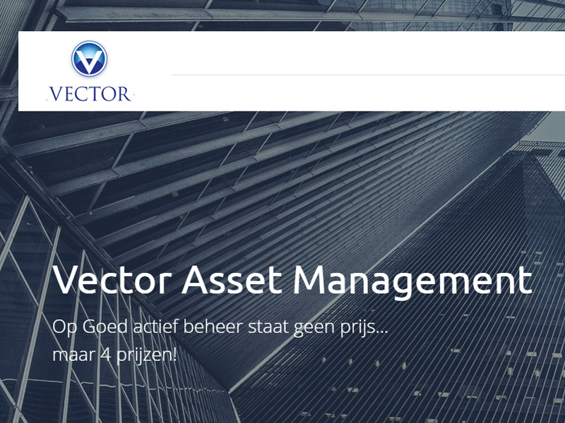 Vector Asset Management - responsive website
