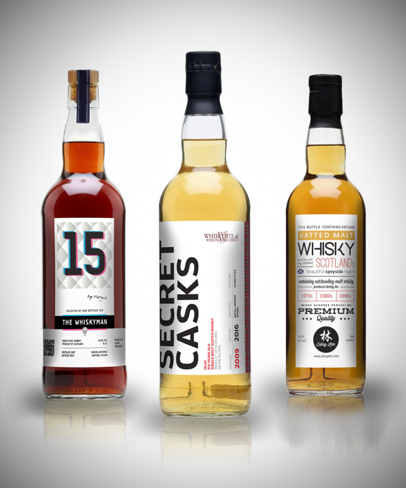 Whisky labels - Grafisch ontwerp